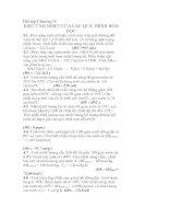 Tài liệu Bài tập hiệu ứng nhiệt của các quá trình hóa học pptx