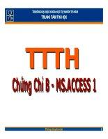 Tài liệu Bài 1: Tổng quan về CSDL Access ppt