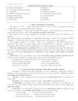 Tài liệu Topic of speaking test doc