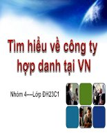 Tài liệu Tìm hiểu về công ty hợp danh tại VN docx