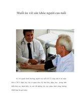 Tài liệu Muối ăn với sức khỏe người cao tuổi pptx