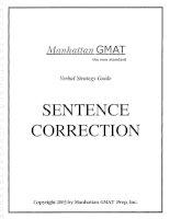 Tài liệu Manhattan Sentence Correction Guide doc
