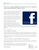 8 tips to increase edgerank and exposure for your facebook page