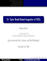 10  on taylor model based integration of ODEs neuer 2006