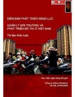 Tài liệu Quản lý môi trường và phát triển đô thị ở Việt Nam ( Chương 1) pdf