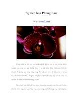 Tài liệu Sự tích hoa Phong Lan docx