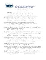 Tài liệu Đề thi mẫu số 3 tuyển sinh CĐ ĐH môn Hóa năm 2009 pptx