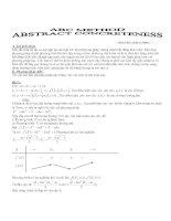 Tài liệu Phương pháp chứng minh Bất đẳng thức ABC doc