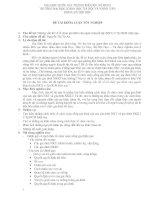 Tài liệu Luận văn - Những vấn đề về tổ chức gia đình của người khuyết tật doc