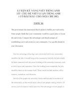 Tài liệu LUYỆN KỸ NĂNG VIẾT TIẾNG ANH 155 -CHỦ ĐỀ VIẾT LUẬN TIẾNG ANH 30 ppt