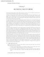 Tài liệu Bài giảng hệ thống viễn thông 2 - Chương 7: Hệ thống truyền hình docx