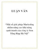 """Tài liệu Đề tài """"Một số giải pháp Marketing nhằm nâng cao khả năng cạnh tranh của công ty Sơn Tổng Hợp Hà Nội"""" pdf"""