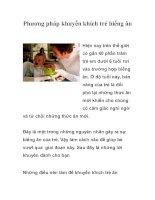 Tài liệu Phương pháp khuyến khích trẻ biếng ăn doc