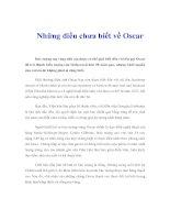Tài liệu Những điều chưa biết về Oscar pdf