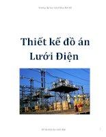 Tài liệu Thiết kế đồ án lưới điện doc