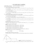 Tài liệu Trắc nghiệm lý học kỳ 2 tham khảo chuyển động docx