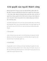Tài liệu 6 bí quyết của người thành công docx