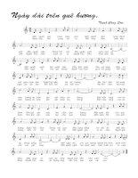 Tài liệu Bài hát ngày dài trên quê hương - Trịnh Công Sơn (lời bài hát có nốt) docx