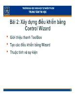 Tài liệu Bài 2: Xây dựng điềukhiểnbằng Control Wizard ppt
