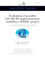 Tài liệu Evaluation of possible Six Sigma implementation including a DMAIC project pptx
