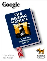 Tài liệu Google The Missing Manual docx