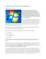 Tài liệu 10 tùy biến Windows 7 với Local Group Policy Editor pptx