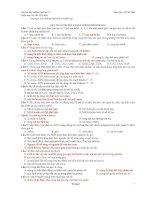 Câu hỏi trắc nghiệm sinh học 12   di truyền học