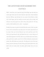 Tài liệu LUYỆN ĐỌC TIẾNG ANH QUA TÁC PHẨM VĂN HỌC-THE ADVENTURES OF HUCKLEBERRY FINN CHAPTER 26 docx