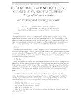Tài liệu Thiết kế trang web nội bộ phục vụ giảng dạy và học tập docx