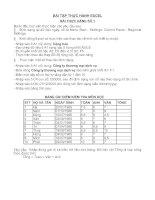 Tài liệu Bài tập thực hành Excel P1 pdf