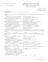 Tài liệu Bộ đề thi thử trắc nghiệm hóa phân ban đề 1 ppt