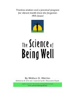 Tài liệu The Science of Being Well - By Wallace D.Wattles doc