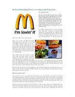 Tài liệu Mc Donald Hoạt động tổ chức và nhượng quyền thương hiệu docx