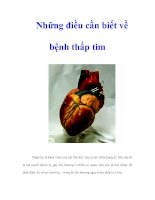 Tài liệu Những điều cần biết về bệnh thấp tim pptx