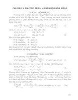 Tài liệu CHƯƠNG 9: PHƯƠNG TRÌNH VI PHÂN ĐẠO HÀM RIÊNG ppt