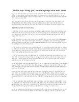 Tài liệu 10 bài học đáng giá cho sự nghiệp năm mới 2008 pdf