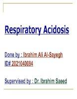 Tài liệu Bài thuyết trình tiếng Anh đề tài: Respiratory Acidosis doc