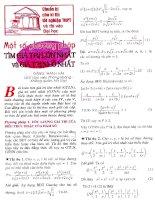 Tài liệu Một số phương pháp tìm giá trị lớn nhất nhỏ nhất pptx