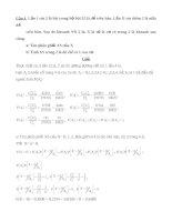 Bài tập xác xuất thống kê có lời giải