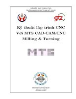 Tài liệu KỸ THUẬT LẬP TRÌNH CNC , CHƯƠNG 4 docx