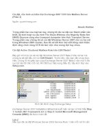 Tài liệu Cài đặt, cấu hình và kiểm thử Exchange 2007 CCR trên Mailbox Server (Phần 3) docx