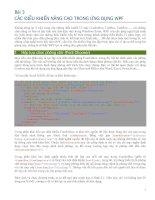Tài liệu CÁC ĐIỀU KHIỂN NÂNG CAO TRONG ỨNG DỤNG WPF ppt
