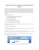 Tài liệu Những điểm mới trong Microsoft Office Word 2007 pdf
