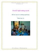 Tài liệu Chủ đề: Ngôi trường của bé - Đề tài: Lớp Lá và những người bạn - Nhóm lớp: Lá pptx