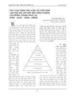 Tài liệu CÁC LOẠI HÌNH THƯ VIỆN TẠI VIỆT NAM LÀM SAO ĐỂ LÀM NỔI BẬT HÌNH TƯỢNG CỦA MÌNH TRONG PHỤC VỤ SINH HOẠT CỘNG ĐỒNG pptx