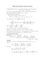Tài liệu Phương pháp chuẩn hóa trong toán pptx