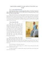 Tài liệu THOÁI HÓA KHỚP VÀ CỘT SỐNG Ở NGƯỜI CAO TUỔI doc