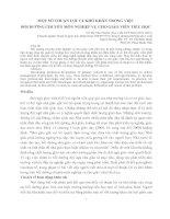 MỘT SỐ THUẬN LỢI VÀ KHÓ KHĂN TRONG VIỆCBỒI DƯỠNG CHUYÊN MÔN NGHIỆP VỤ CHO GIÁO VIÊN TIỂU HỌC