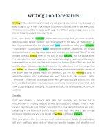 Tài liệu Cách viết kịch bản game pdf