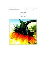 Tài liệu Âm nhạc lớp 5 - Ôn Tập H ai Bài Hát: - Những Bông Hoa Những Bài Ca - Ước Mơ Nghe Nhạc ppt